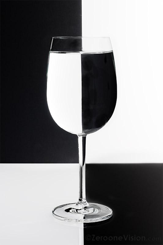 Weinglas Schwarz Weiß
