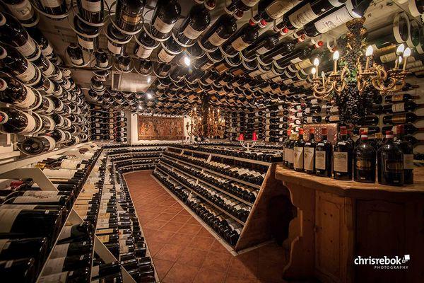 Weinkeller des Arlberg Hospiz Hotels