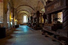 Weinpressen im Kloster Eberbach