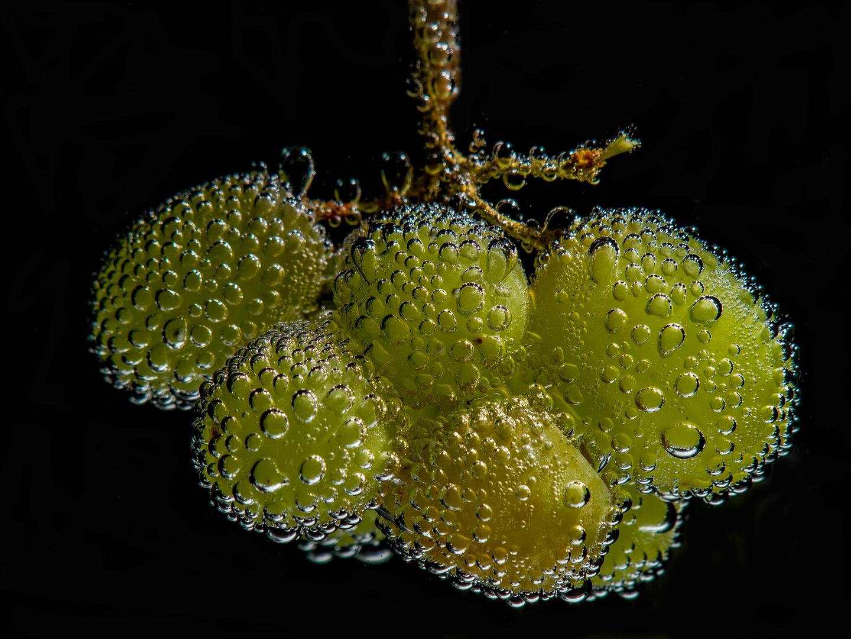 Weintraube im Selterswasser