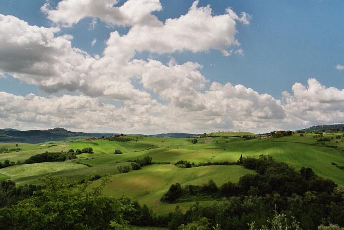 Weiß-Blau-Grün in der Toskana