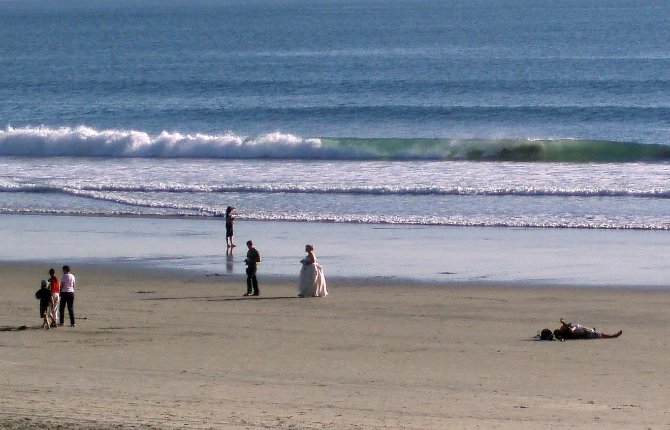 Weiße Gischt und weiße Braut.
