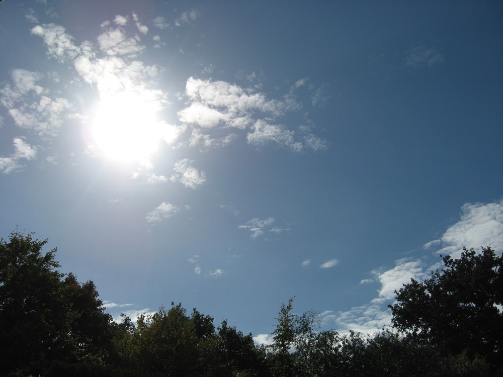 Weiße Sonne