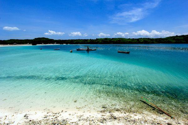 Weisse Straende und Glass Klarem Wasser in Oesela - Insel Rote - Indonesien