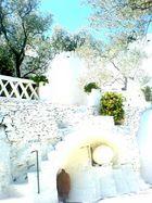 weiße Stufen