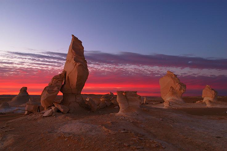 Weisse Wüste - Sonnenuntergang