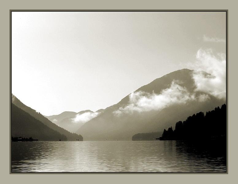 Weissen See - sepia