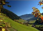 Weißenbachtal im Herbst (Tal auswärts)
