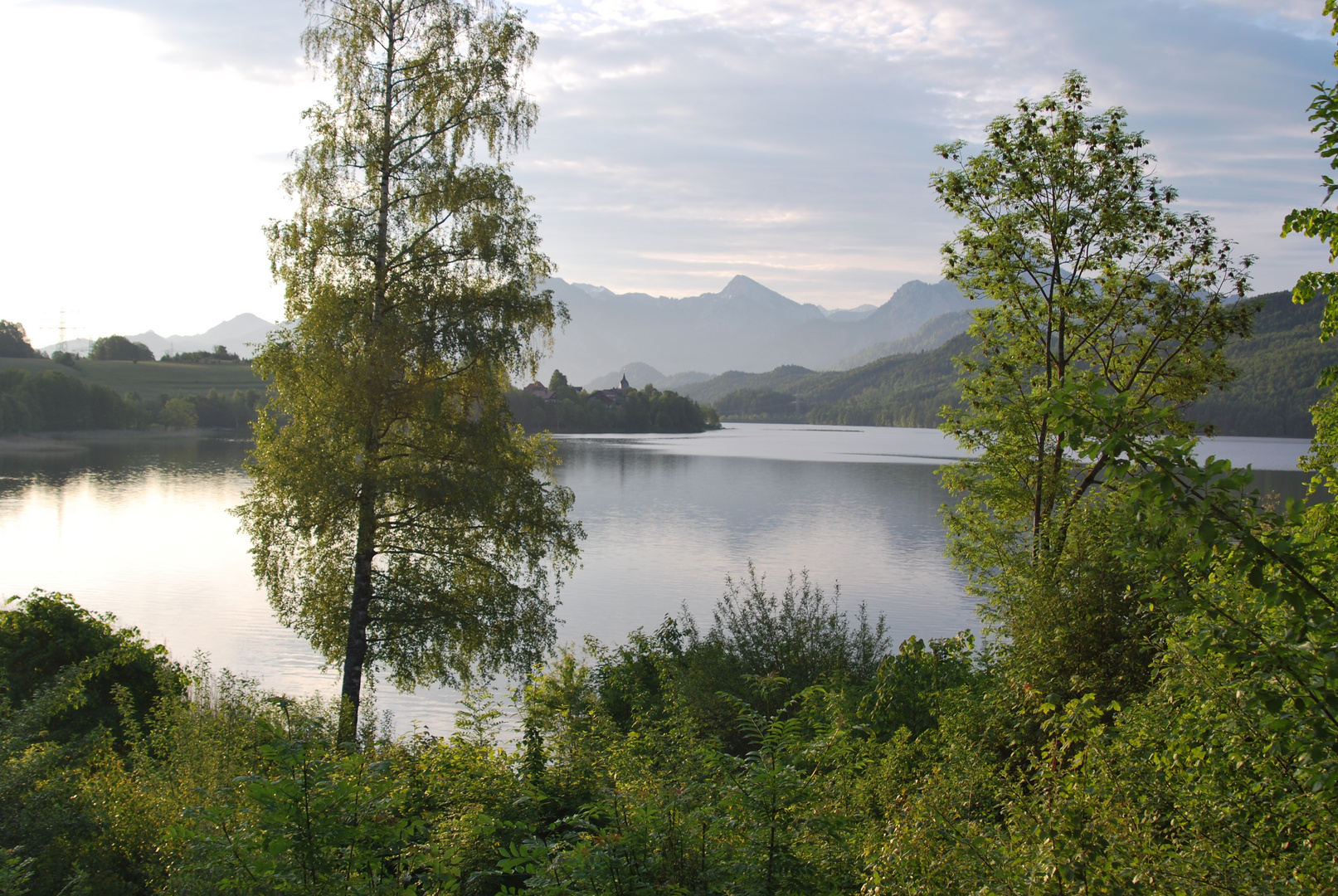 Weissensee and beginning of Alps