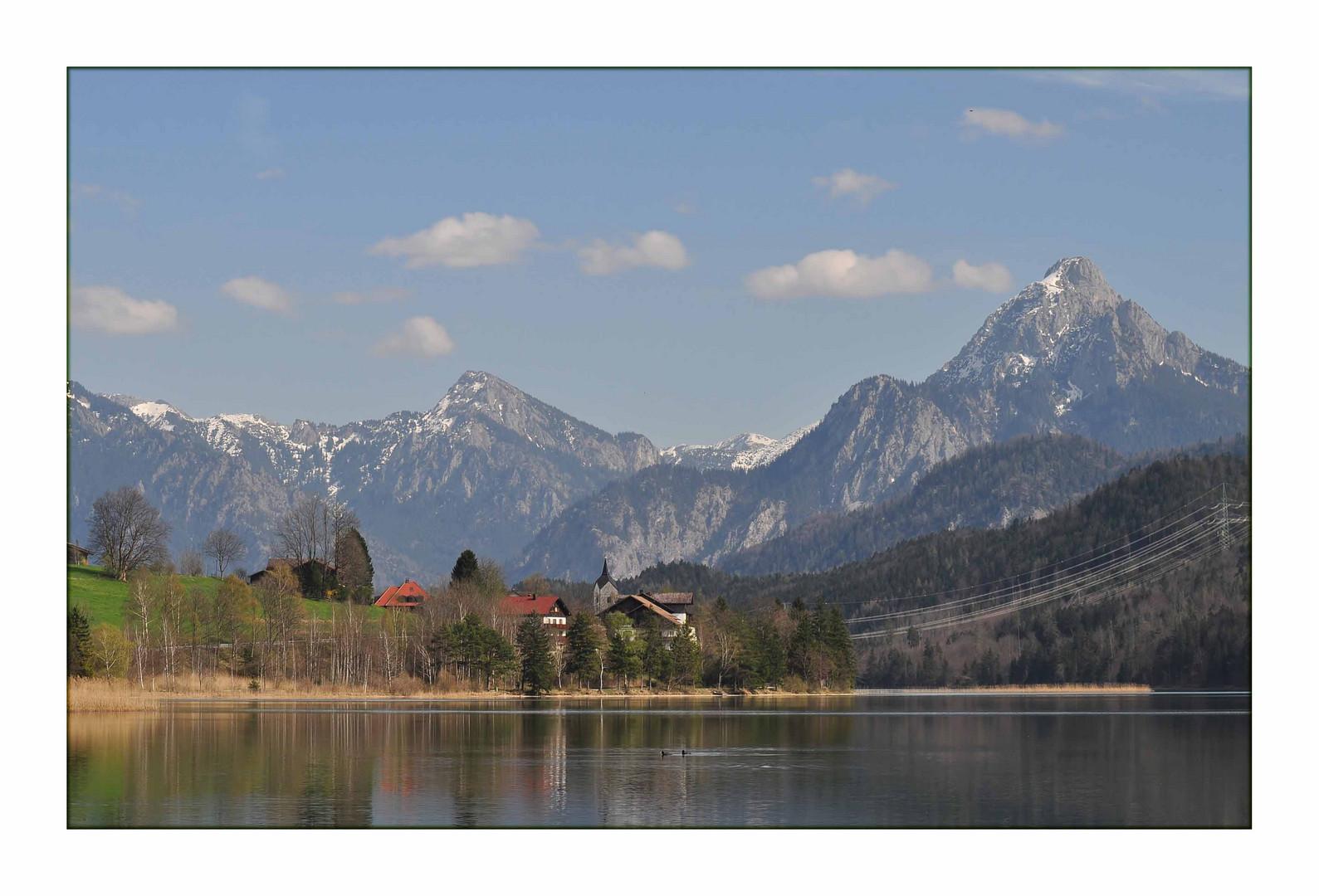 Weißensee im Hintrgrund..