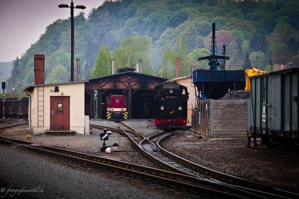 Weißeritztalbahn im Osterzgebirge