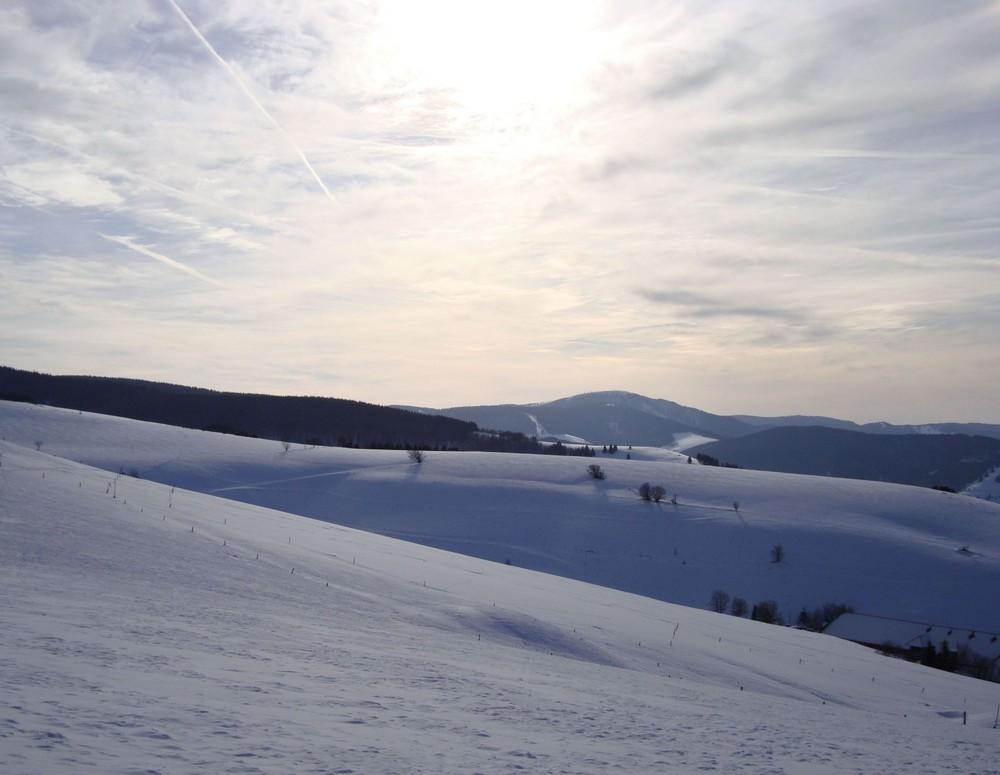 Weißes Panorama