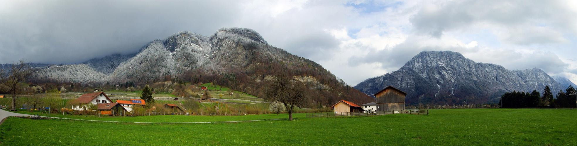 Weissgrüne Ostern in Malans Graubünden
