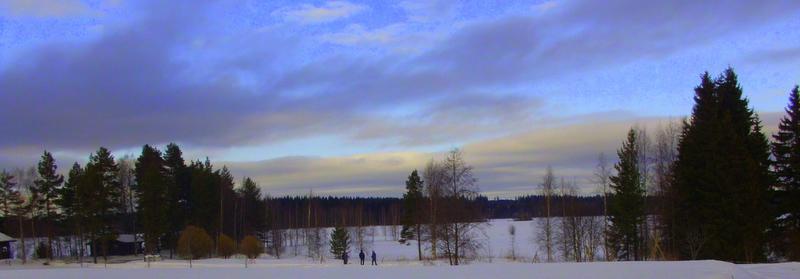 Weit weg im kalten Finnland