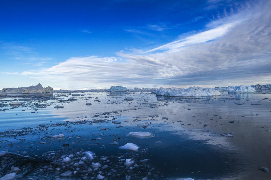 Weite der Eisberge