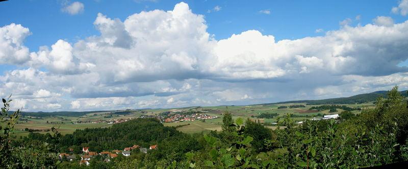 """"""" Weite Landschaft unter Haufenwolken """" * 2 *"""