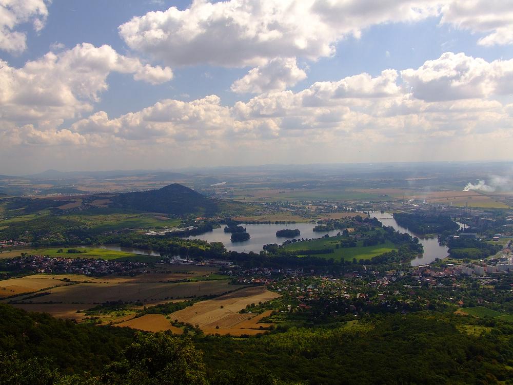 Weites Land - Blick vom Lovoš nach Osten
