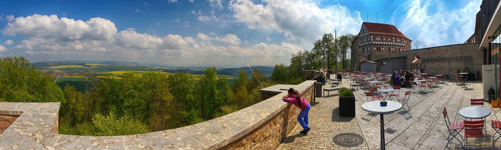 Weitsicht von der Burg Scharfenstein