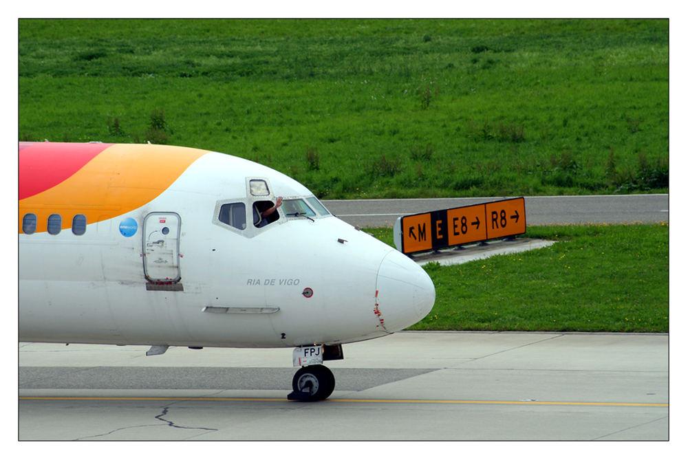 Welche Fluggesellschaft hat so freundliche Piloten...