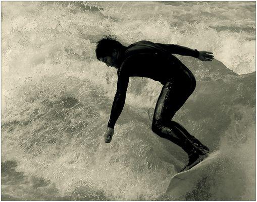 Welle erwischt