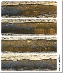 Welle im Sonnenlicht