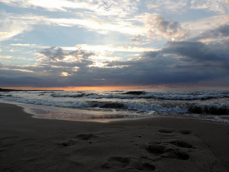 Wellen am Abend