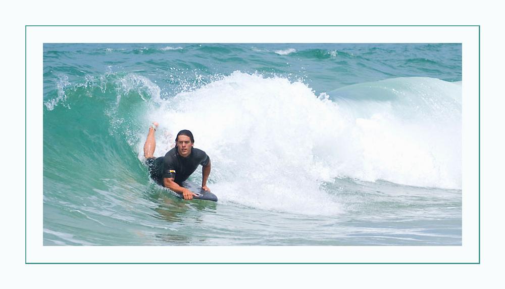 Wellen surfen...