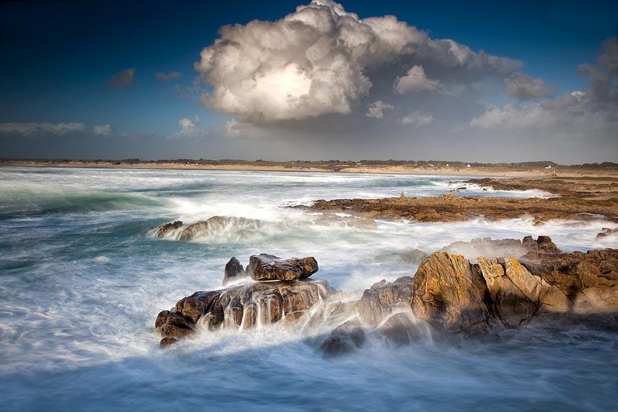 Wellen und Regen