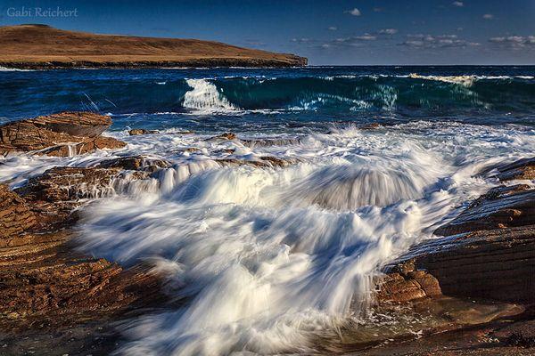 Wellen vor Bressay, Shetland