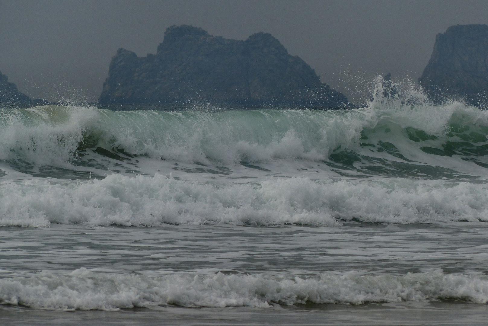 Wellen vor les Tas de Pois