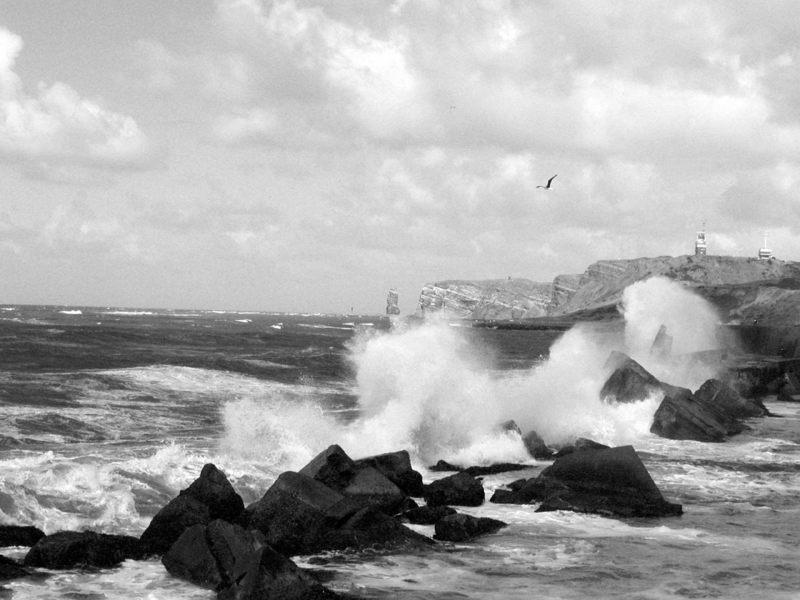 Wellenbrecher vor Helgoland