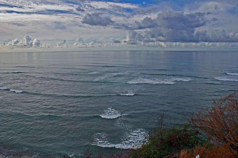 Wellenreiter auf Hawaii