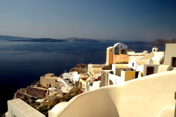 Well,there is colour in Santorini !