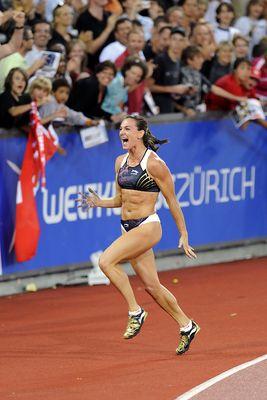 Weltklasse Zürich 2009 Yelena Isinbayeva, RUS, Phase 5