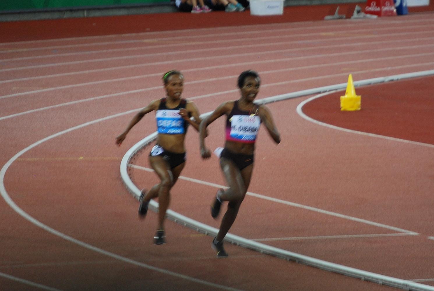 Weltklasse Zürich 2013 - Äthopischer Zweikampf - die Zweite wird die Erste sein