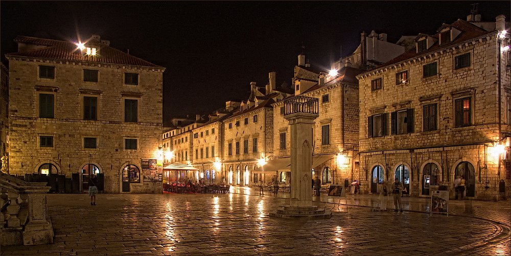 Weltkulturerbe Altstadt Dubrovnik, Kroatien - Marktplatz