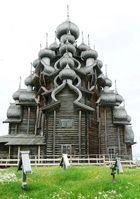 Weltkulturerbe Verklärungskirche auf der Insel Kishi im Onegasee