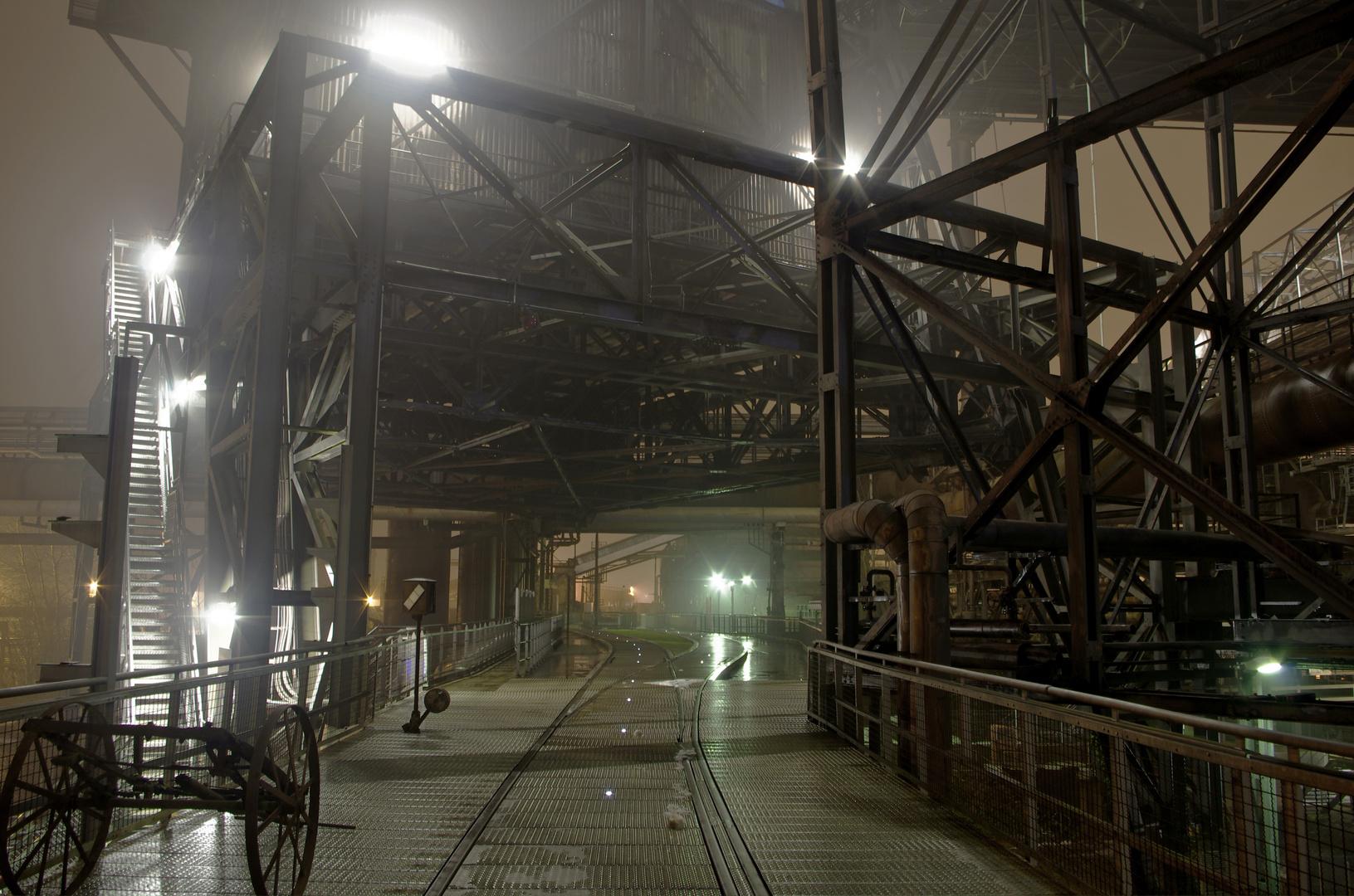 Weltkulturerbe Völklingen bei Nacht und Nebel