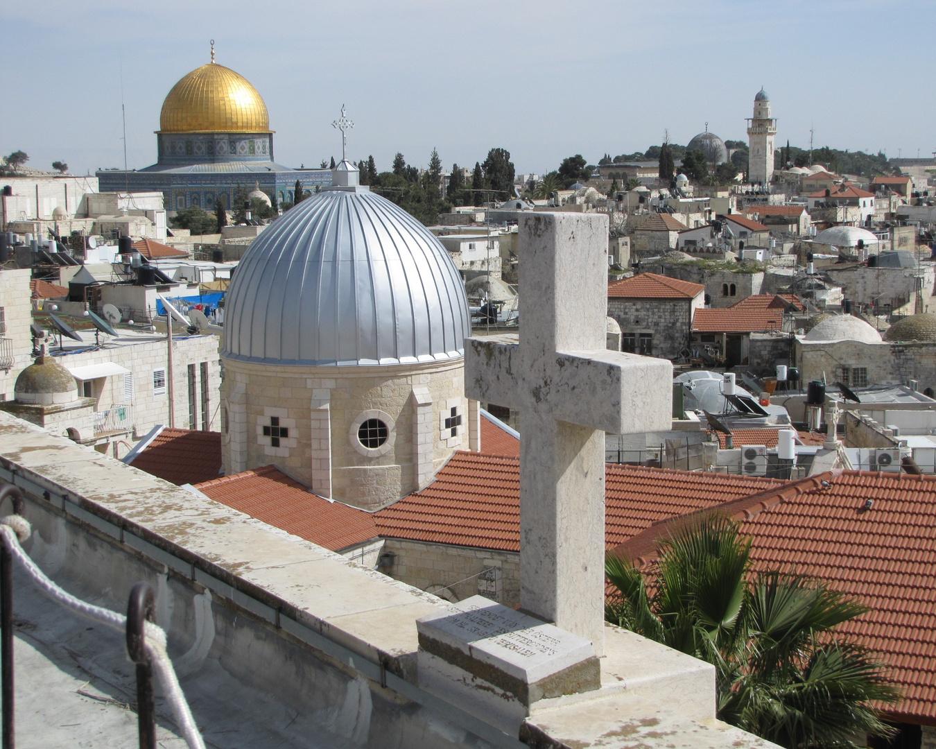 Weltreligionen treffen aufeinander - Jerusalem