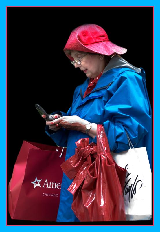 Wem ruft diese Frau an in New York?