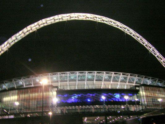 Wembleypark Stadion nach dem 2-1 für Deutschland
