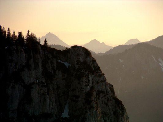 Wendelstein beim Sonnenuntergang