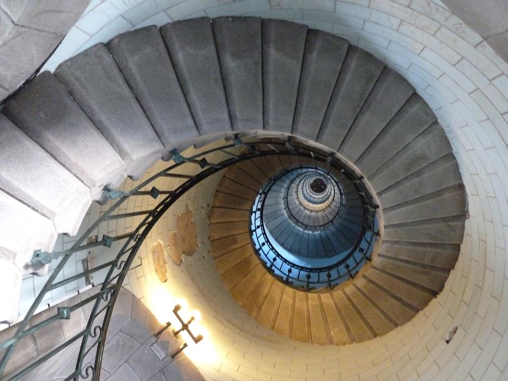 Wendeltreppe im Leuchtturm Eckmühl