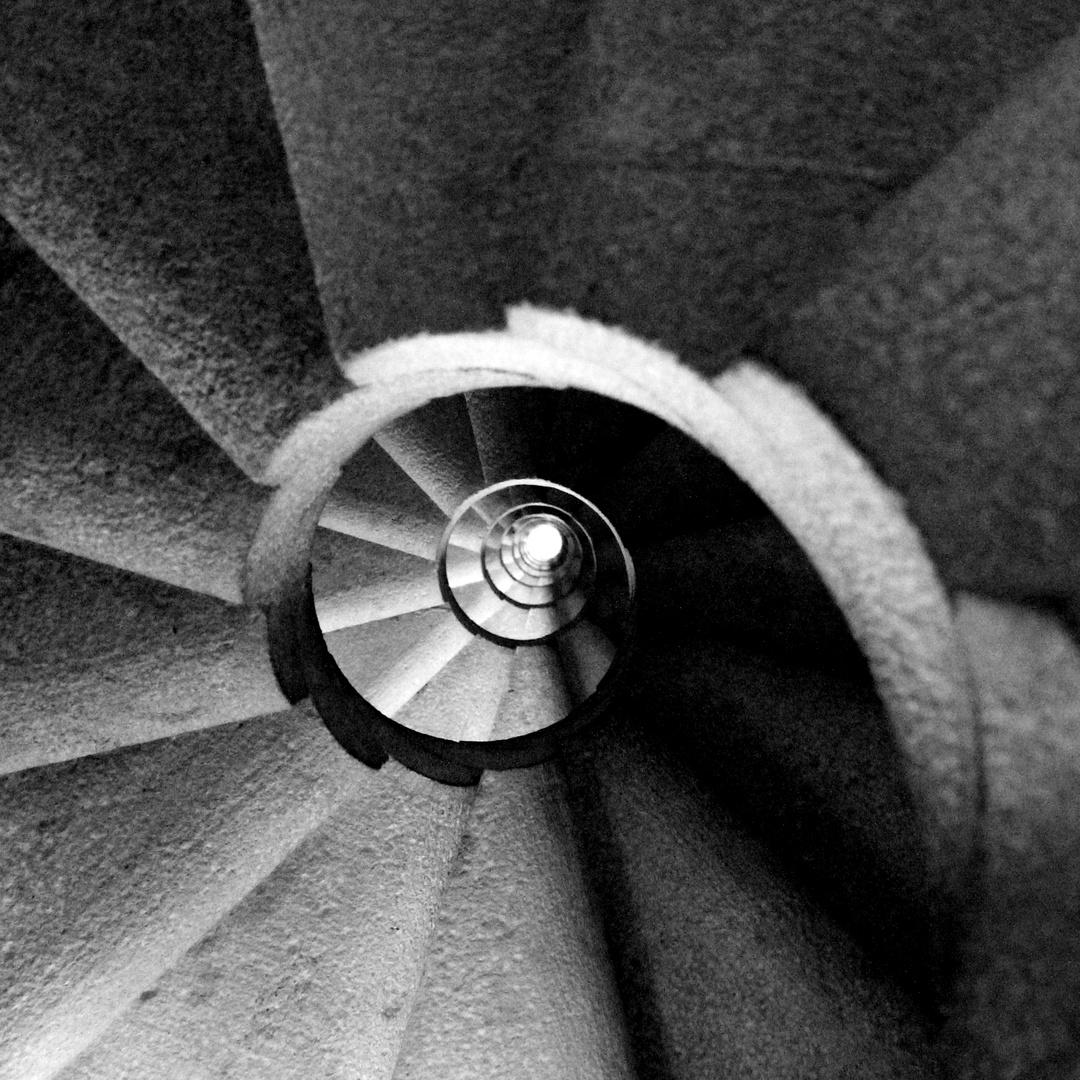 Wendeltreppe in der Sagrada Familia 2