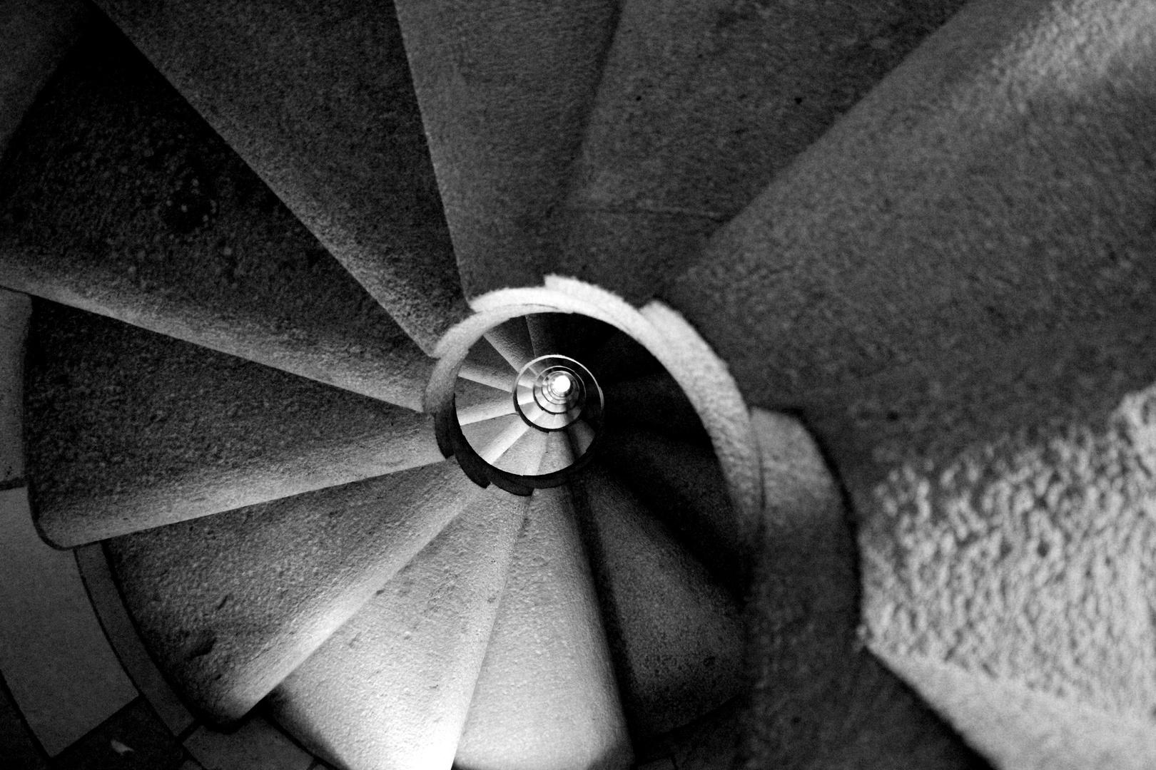 Wendeltreppe in der Sagrada Familia