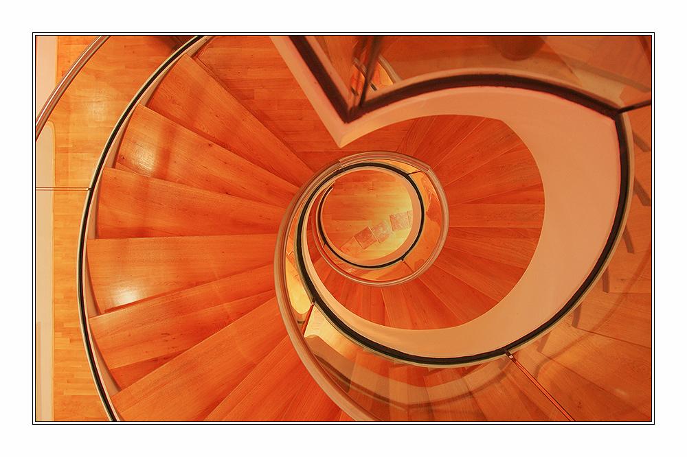 Wendeltreppe - von oben -