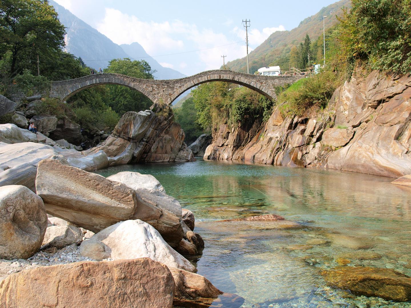 Wenig Wasser im Valle Verzasca
