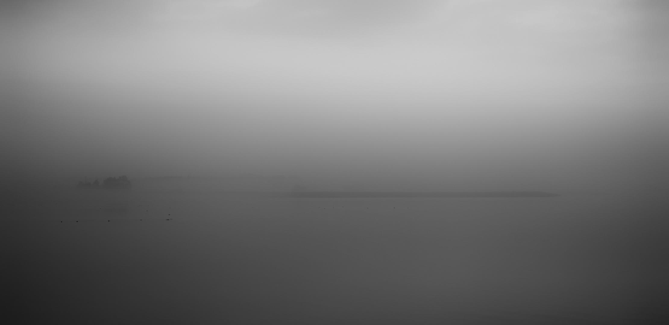 wenn alles im nebel verschwindet ..