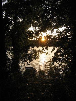 Wenn am Dreetzsee die rote Sonne untergeht