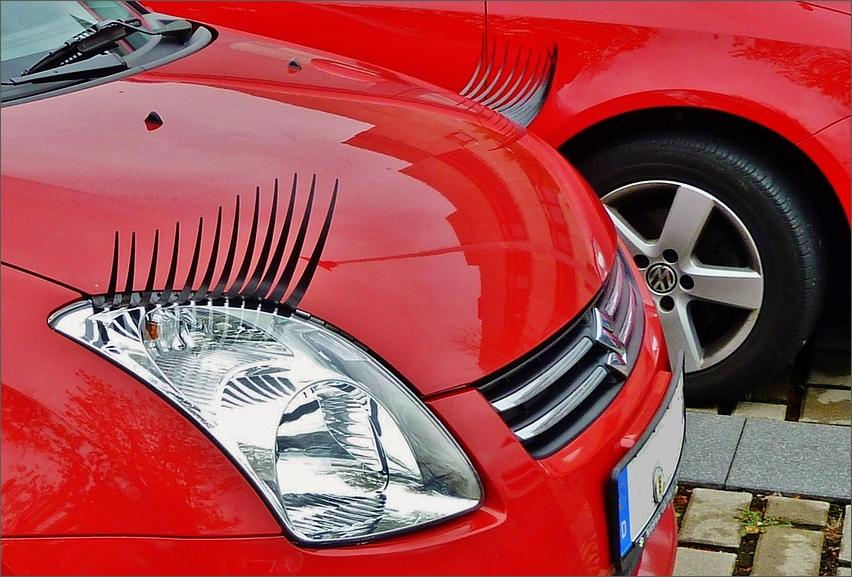 Wenn Autos mit den Wimpern klimpern